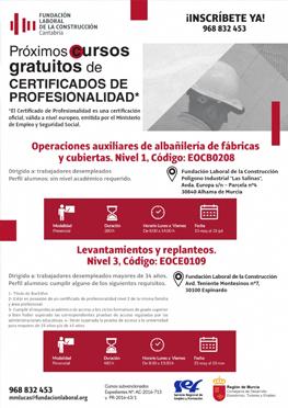 Cursos gratuitos de Certificados de Profesionalidad