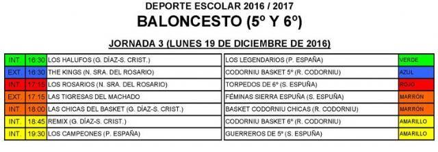 Calendario baloncesto - 1