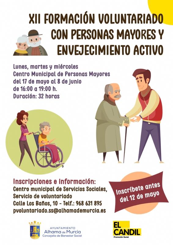 XII Curso de formación de voluntariado con personas mayores y envejecimiento activo