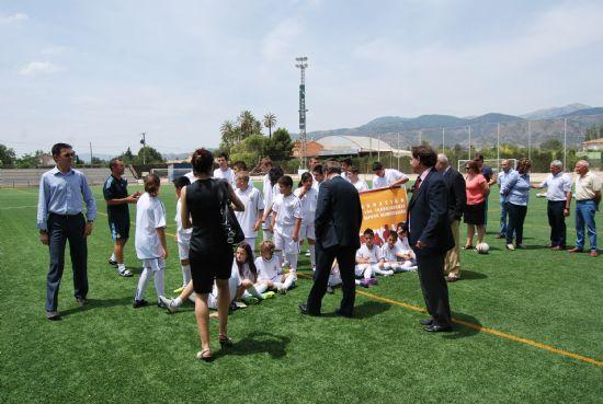 Miguel Pardeza, director del Real Madrid, visita las instalaciones municipales del Guadalentín