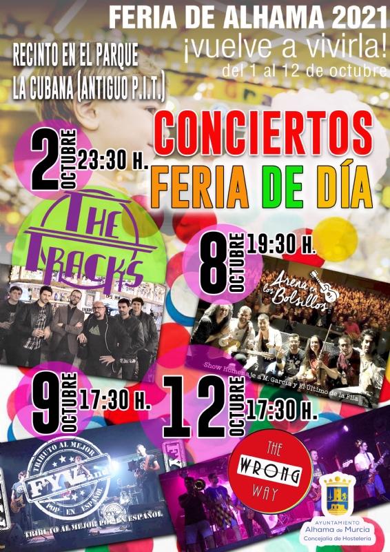 Cambio de hora en los conciertos de la Feria de Día 2021