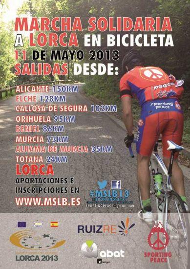 El Ayuntamiento de Alhama colabora con la Marcha Solidaria a Lorca en Bicicleta