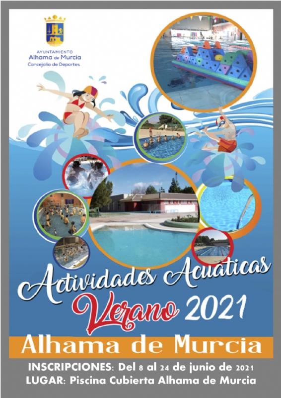 Programa de actividades acuáticas y gimnasio 2021