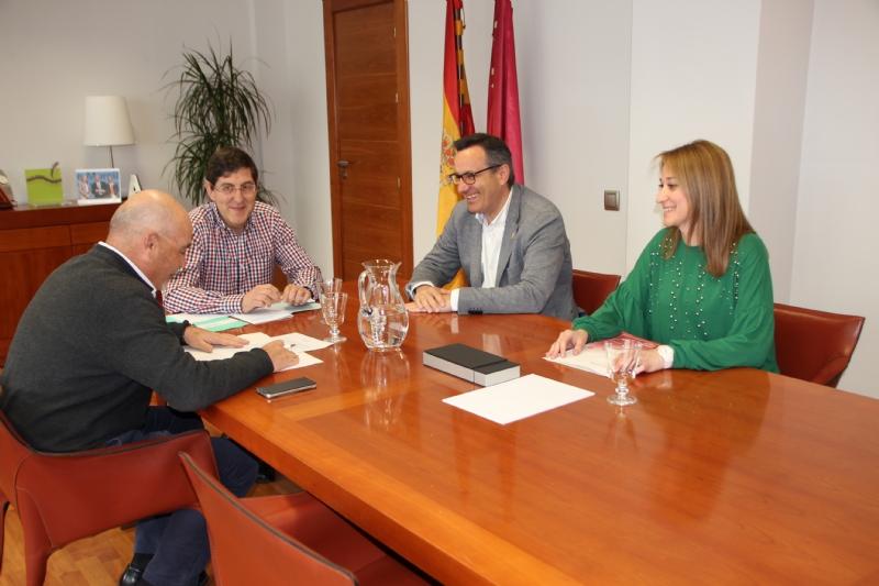 Roque Martínez, Manuel Villegas, Diego Conesa y Mariola Guevara