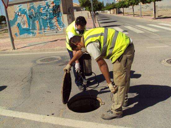 El Ayuntamiento de Alhama intensifica la desinsectación del municipio y pedanías