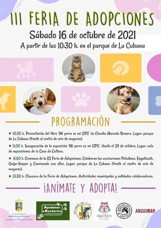 III feria de adopción de animales con la presentación del libro ´Mi perro es mi GPS´