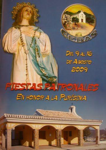 El próximo fin de semana la pedanía de Gebas celebra sus Fiestas en honor a la Purísima