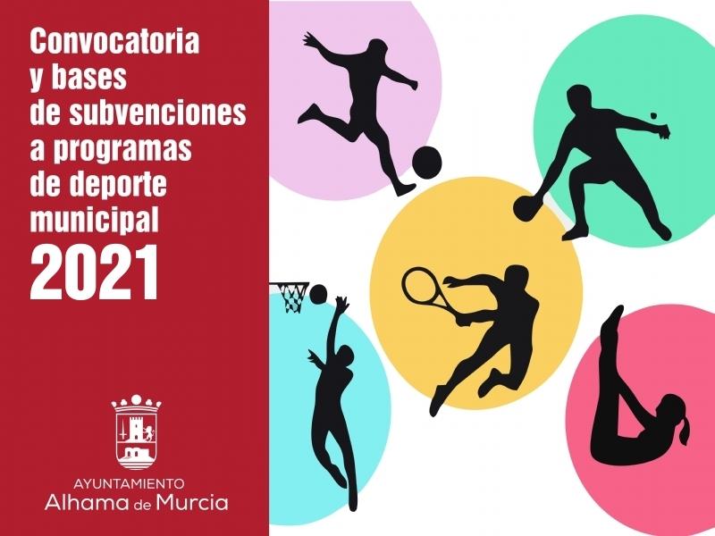 Convocatoria y bases de subvenciones a programas de deporte municipal 2021