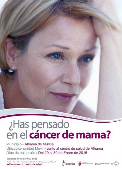 Del 20 al 30 de enero tendrá lugar la Campaña de Prevención de Cáncer de Mama en Alhama