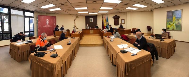 El CECOPAL restringe actividades y espacios públicos en Alhama hasta el 2 de febrero