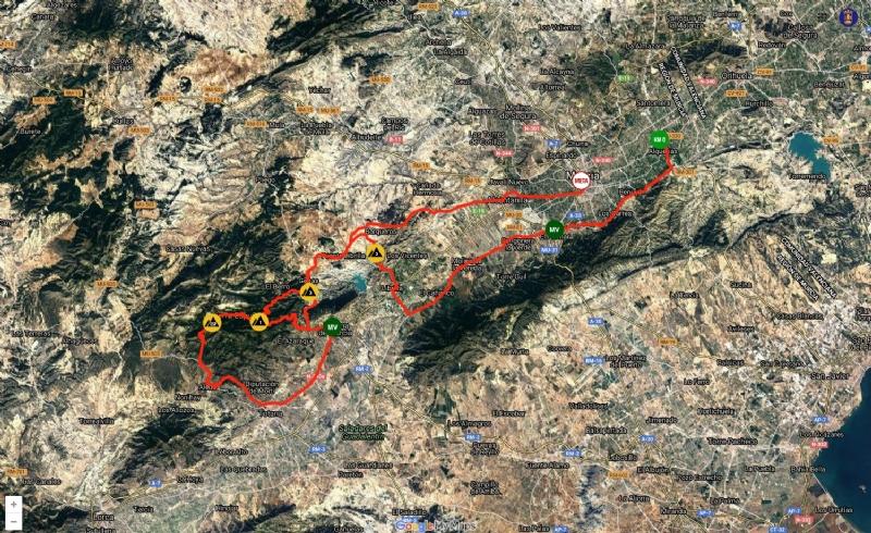 La Vuelta Ciclista a Murcia pasa este sábado por Sierra Espuña y Alhama