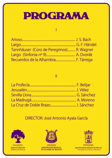 Concierto de Semana Santa de la Agrupación Musical de Alhama