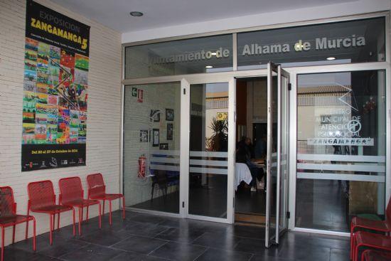 Los alumnos del Centro de Atención Psicosocial inauguran la exposición Zangamanga 6