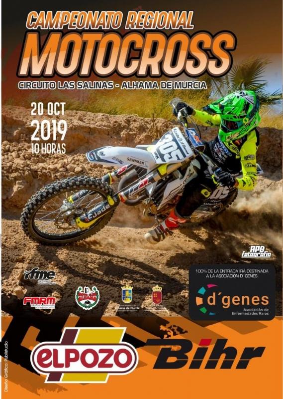El circuito de Las Salinas acoge el XLII Campeonato Regional de Motocross