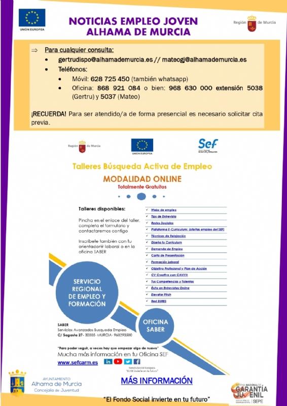 Boletín semanal del centro de empleo para jóvenes (17-06-2021)