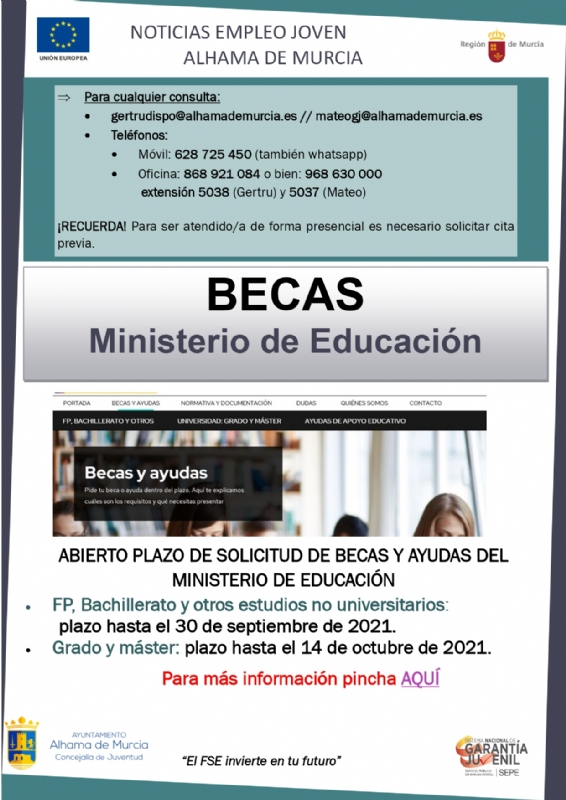 Boletín semanal del centro de empleo para jóvenes (17-09-2021)