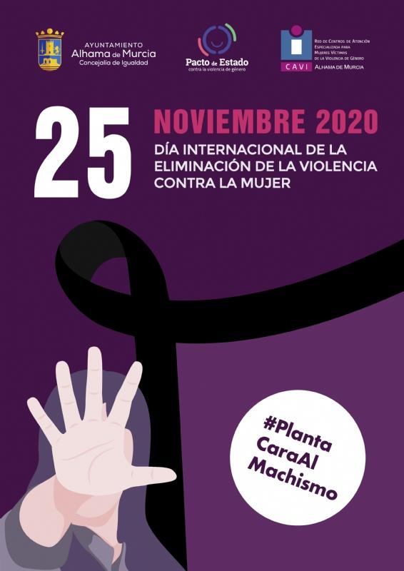 Alhama planta cara al machismo con motivo del 25N: Día Internacional de la Eliminación de la Violencia contra la Mujer