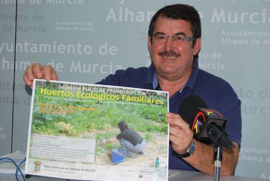 Se abre un plazo de preinscripción para quienes deseen ser adjudicatarios de un huerto ecológico
