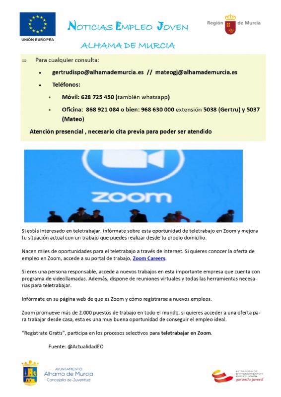 Boletín semanal del centro de empleo para jóvenes (19-10-2020)