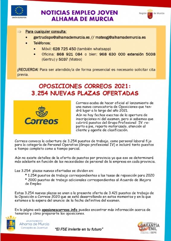 Boletín semanal del centro de empleo para jóvenes (20-01-2021)