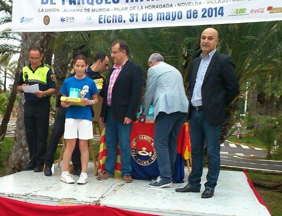 Los niños del Parque Infantil de Tráfico, bien situados en la competición de Educación Vial celebrada en Elche