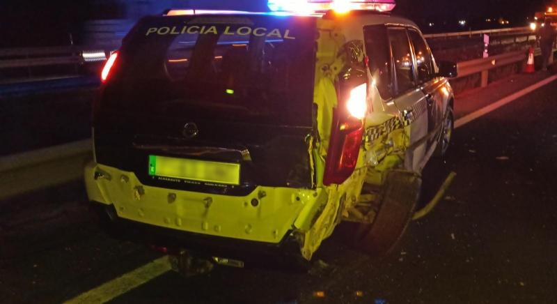 Un agente de Policía Local de Alhama, herido leve en un accidente en la autovía A-7