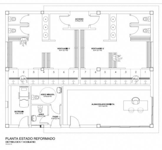 CONSTRUCCIÓN VESTUARIOS PARA CAMPO DE FÚTBOL Y PISTA DE ATLETISMO, EN EL EDIFICIO JUNTO A PISCINA DEL COMP. DEP. GUADALENTÍN