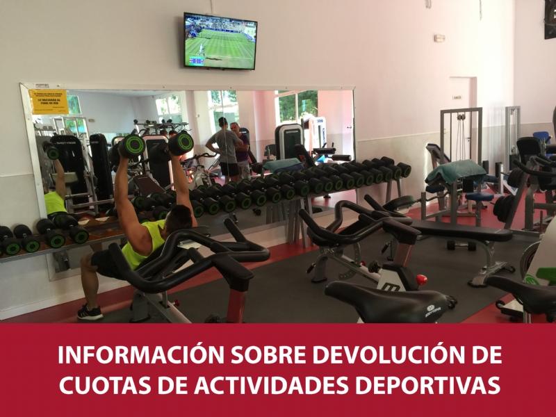 Información sobre devolución de cuotas de actividades deportivas suspendidas