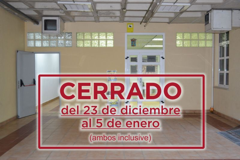 El Padrón Municipal permanecerá cerrado del 23 de diciembre al 5 de enero (ambos inclusive)