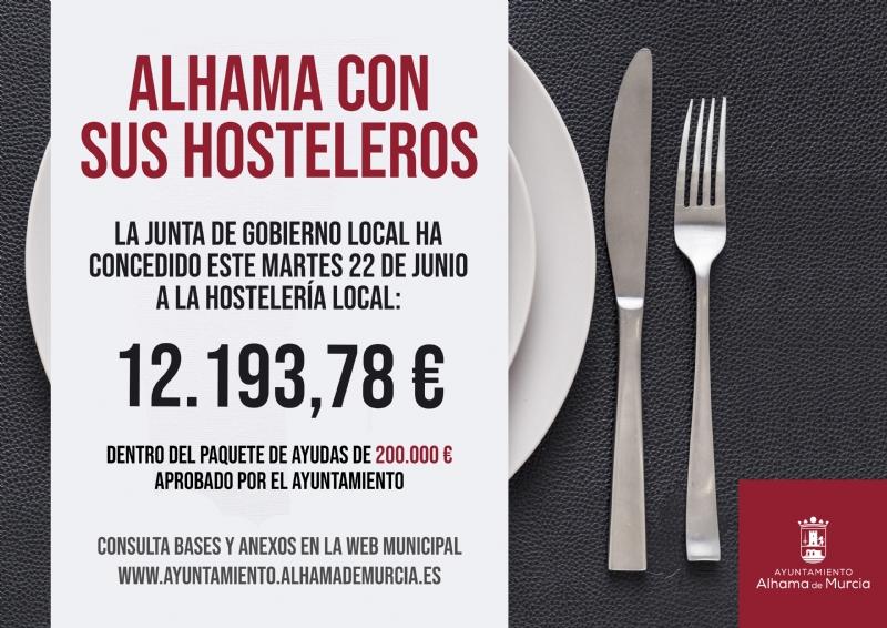El Ayuntamiento concede otros 12.000 euros más a la hostelería local