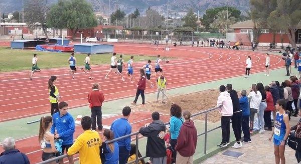 La pista de atletismo, escenario del récord de España sub-16 de 60 metros lisos