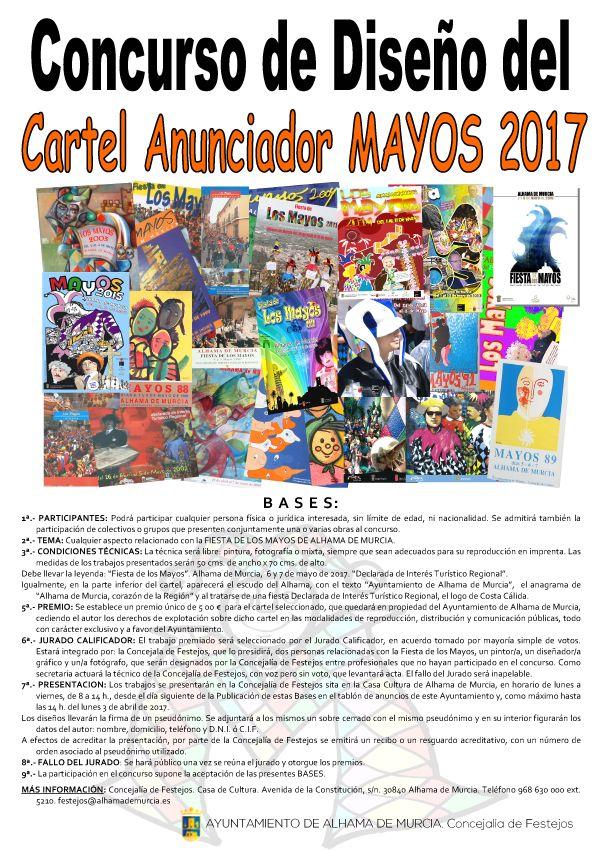 Concurso para el cartel anunciador de la Fiesta de los Mayos 2017