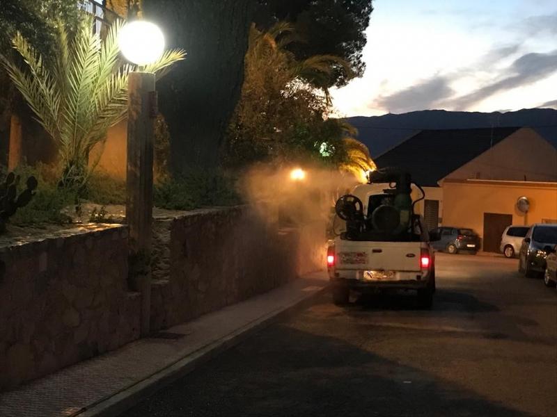 La concejalía de Medio Ambiente vuelve a fumigar contra los mosquitos