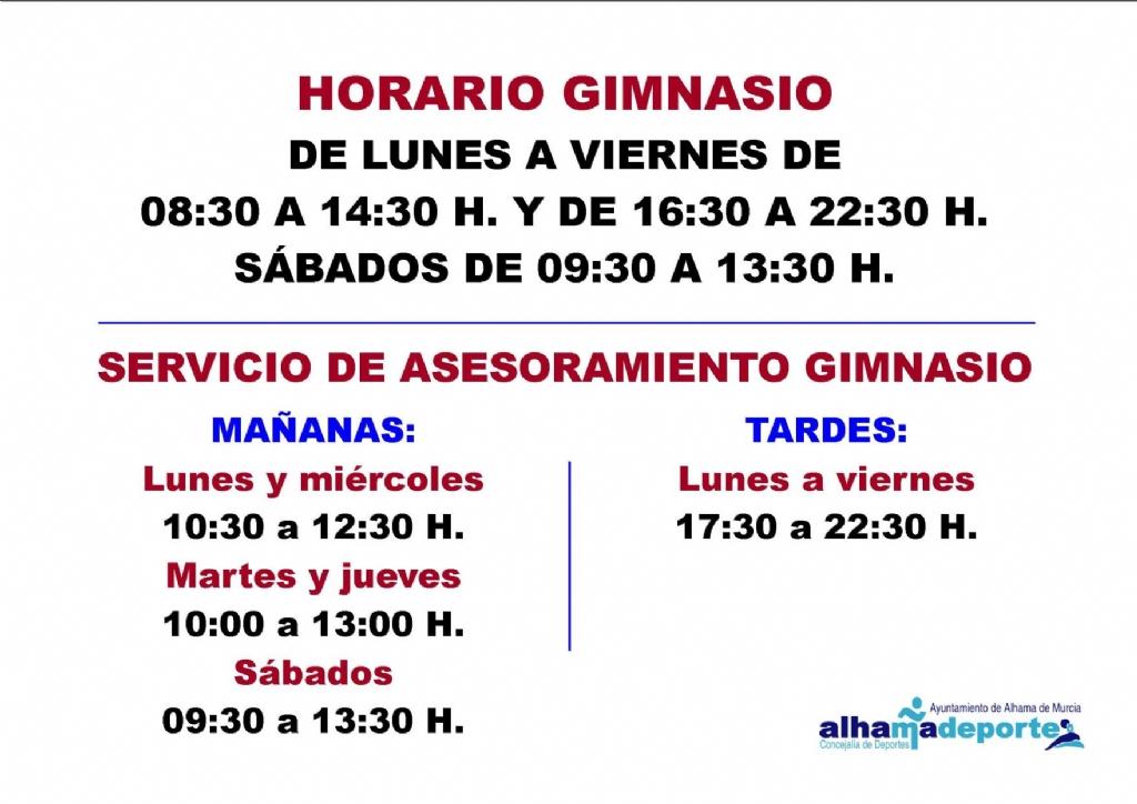 El gimnasio del Complejo Guadalentín abrirá también los sábados por la mañana
