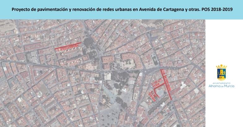 Este lunes comienzan las obras en la avenida Cartagena