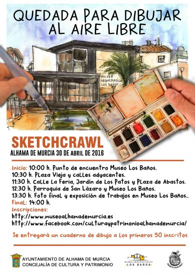 Inscríbete ya en el Sketchcrawl de Alhama