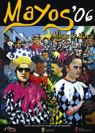 Una pintura de José Luis Clares ilustra el cartel de las fiestas de Los Mayos 2006