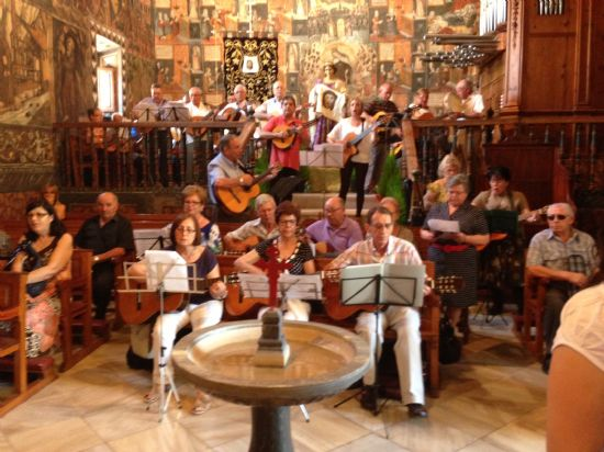 El Taller de Guitarra, Laúd y Bandurria despide el curso cantando una misa en La Santa