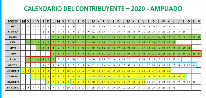 ❗ Ampliación del calendario del contribuyente 2020