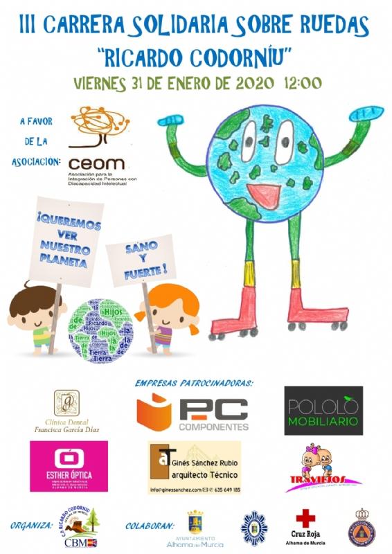 III carrera solidaria sobre ruedas Ricardo Codorníu
