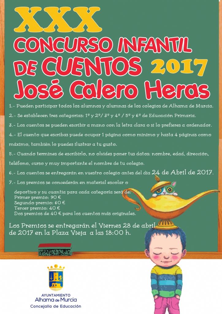 Ganadores del 30º Concurso Infantil de Cuentos José Calero Heras