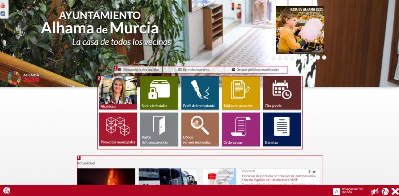 La web municipal incorpora un nuevo servicio de accesibilidad