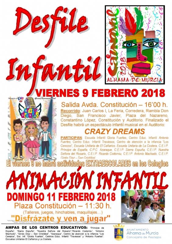 Carnaval de Alhama de Murcia 2018. Del 9 al 11 de febrero
