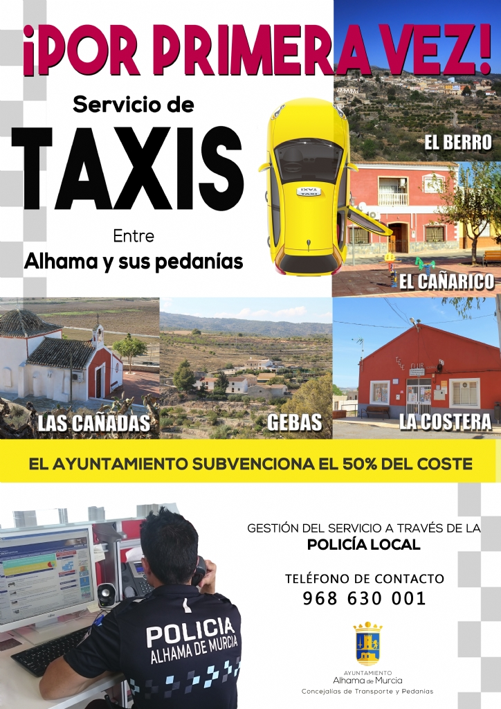 Nuevo servicio de taxis para unir Alhama y sus pedanías