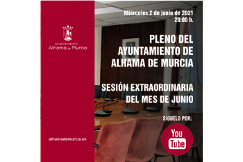 Convocatoria de Pleno: sesión extraordinaria » miércoles 2 de junio de 2021