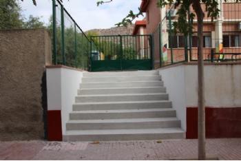 La concejalía de Educación habilita un nuevo acceso en el CEIP Ntra. Sra. del Rosario