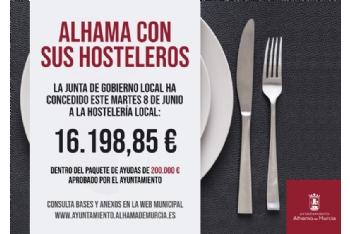 Diez nuevos negocios reciben otros 16.000 euros de ayudas municipales a la hostelería