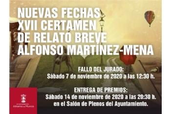 Fallo del jurado del XVII Certamen Literario de Relato Breve Alfonso Martínez-Mena