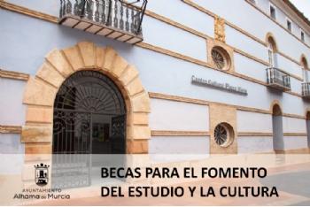 Abierto el plazo de presentación para obtener seis becas para el fomento del estudio y la cultura