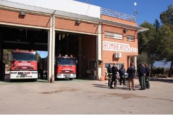 Inauguración del parque de bomberos de Alhama-Totana tras su reforma